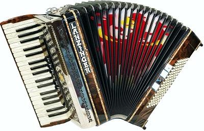 Piano-Akkordeons ohne Cassotto