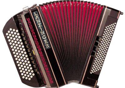Knopfgriff-Akkordeons ohne Cassotto